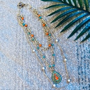 Handmade • Long Bead Necklace